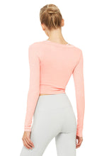 Load image into Gallery viewer, Alo Yoga Cover Long Sleeve Top - Powder Pink