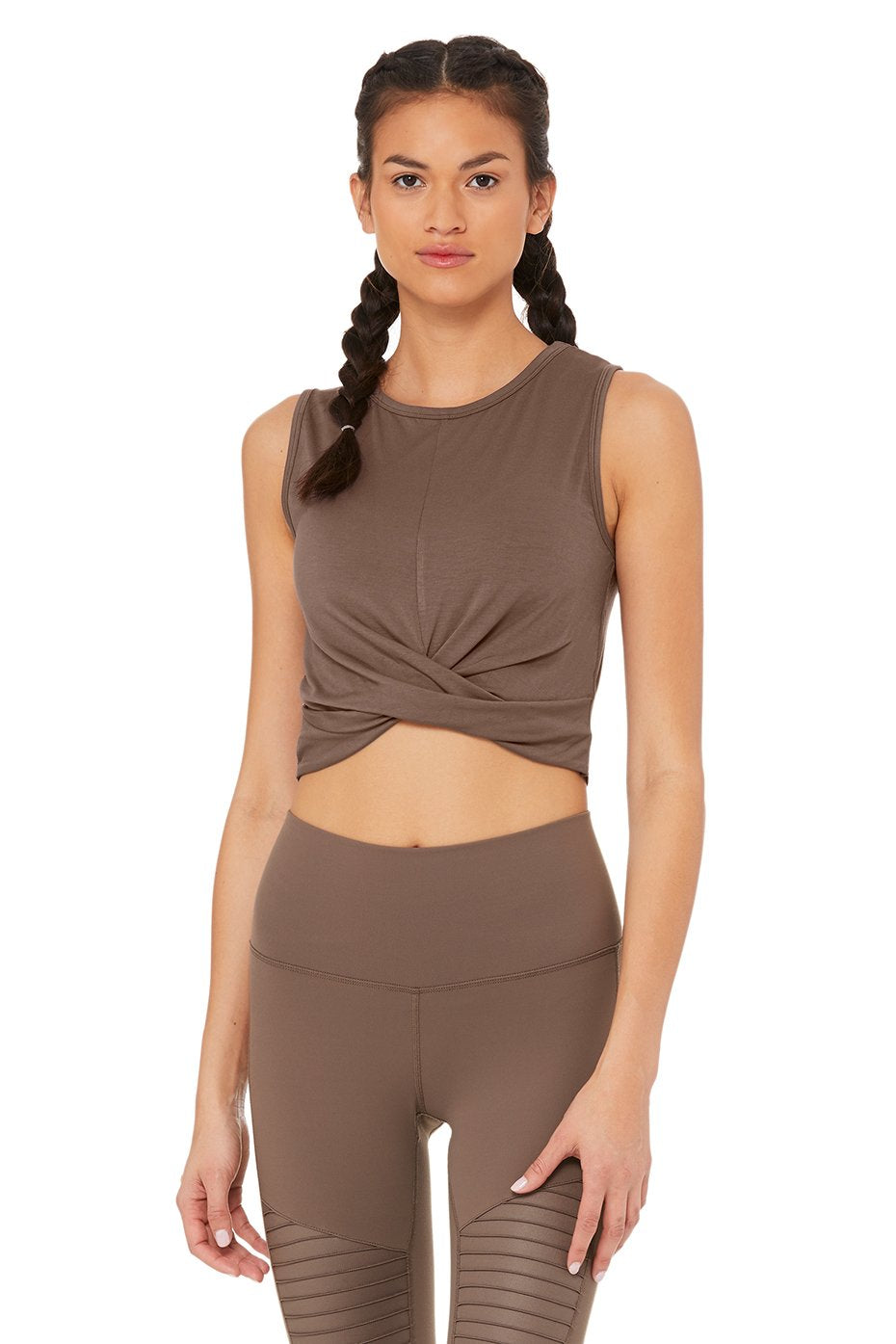 Alo Yoga SMALL Cover Tank - Coco