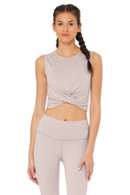 Load image into Gallery viewer, Alo Yoga XS Cover Tank - Lavender Cloud