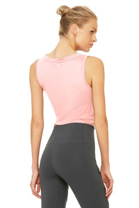 Alo Yoga Cover Tank - Powder Pink