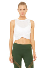 Load image into Gallery viewer, Alo Yoga Cover Tank - White