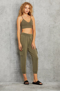 Alo Yoga SMALL Delight Bralette - Olive Branch