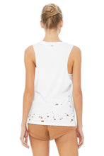Load image into Gallery viewer, Alo Yoga SMALL Distressed Tank - White