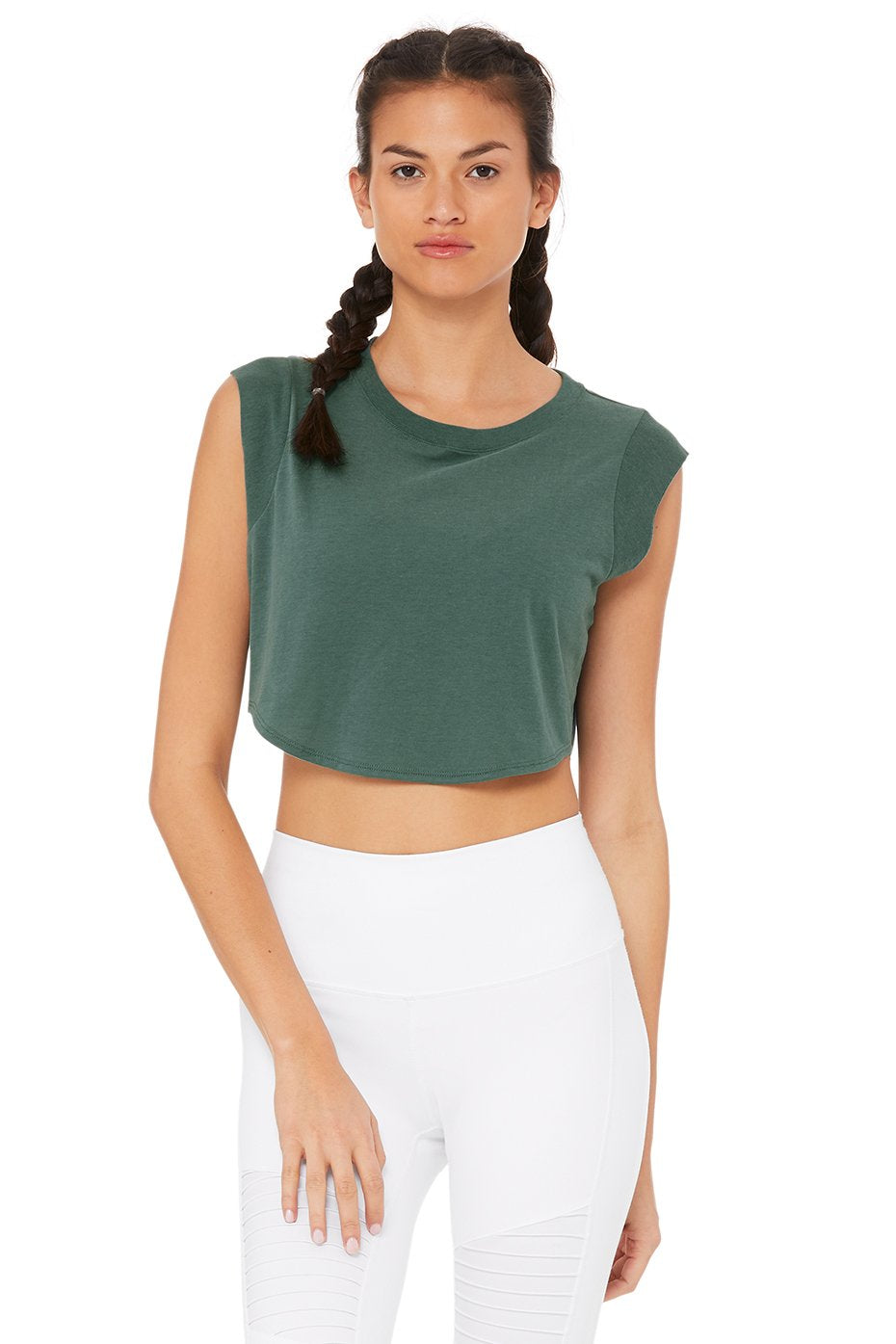 Alo Yoga SMALL Echo Tee - Seagrass