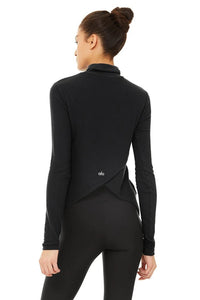 Alo Yoga XS Embrace Long Sleeve - Black