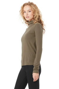 Alo Yoga XS Embrace Long Sleeve - Olive Branch