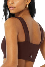 Load image into Gallery viewer, Alo Yoga SMALL Fast Bra - Cherry Cola