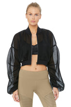 Load image into Gallery viewer, Alo Yoga Field Crop Jacket - Black