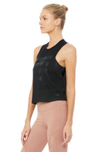 Load image into Gallery viewer, Alo Yoga Flow Tank More Yoga - Black