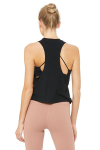 Alo Yoga Flow Tank More Yoga - Black