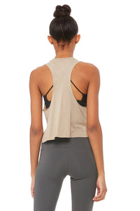 Alo Yoga Flow Tank More Yoga - Gravel