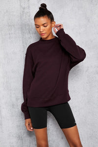 Alo Yoga XS Freestyle Sweatshirt - Oxblood