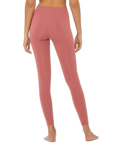 Alo Yoga SMALL High-Waist Airbrush Legging - Rosewood