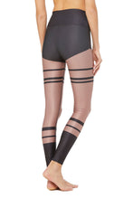 Load image into Gallery viewer, Alo Yoga High-Waist Airlift Airbrush Legging - Anthracite Marathon