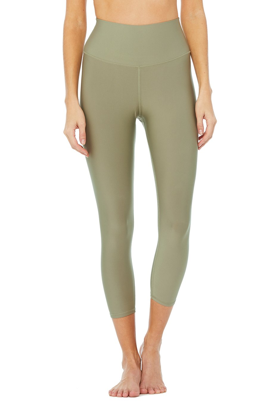 Alo Yoga SMALL High-Waist Airlift Capri - Olive