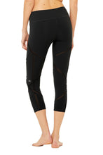 Load image into Gallery viewer, Alo Yoga High-Waist Laced Capri - Black