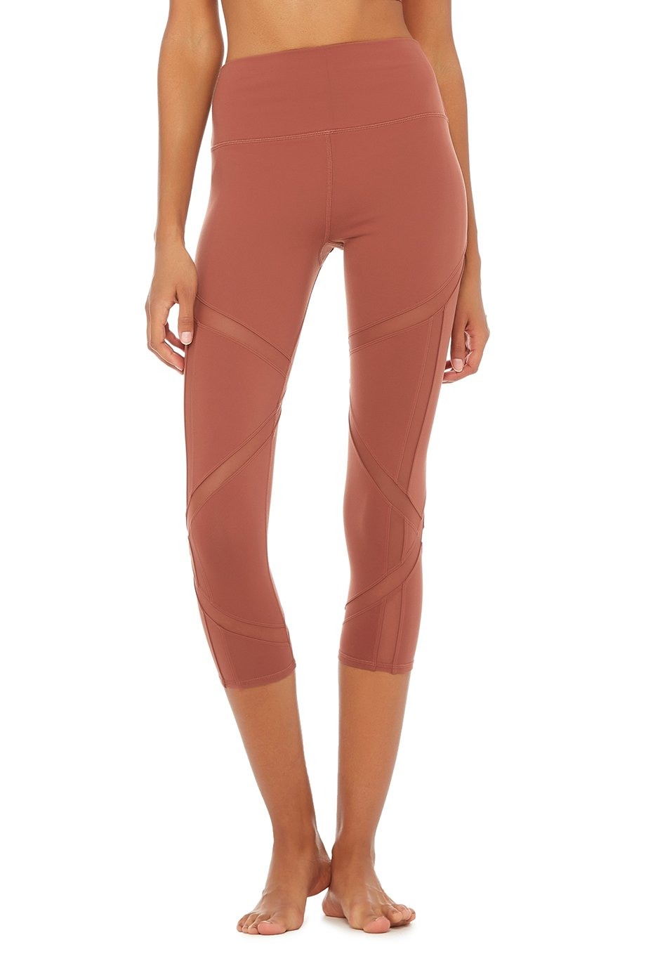 Alo Yoga High-Waist Laced Capri - Earth