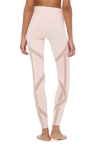 Alo Yoga High-Waist Laced Legging - Powder Pink