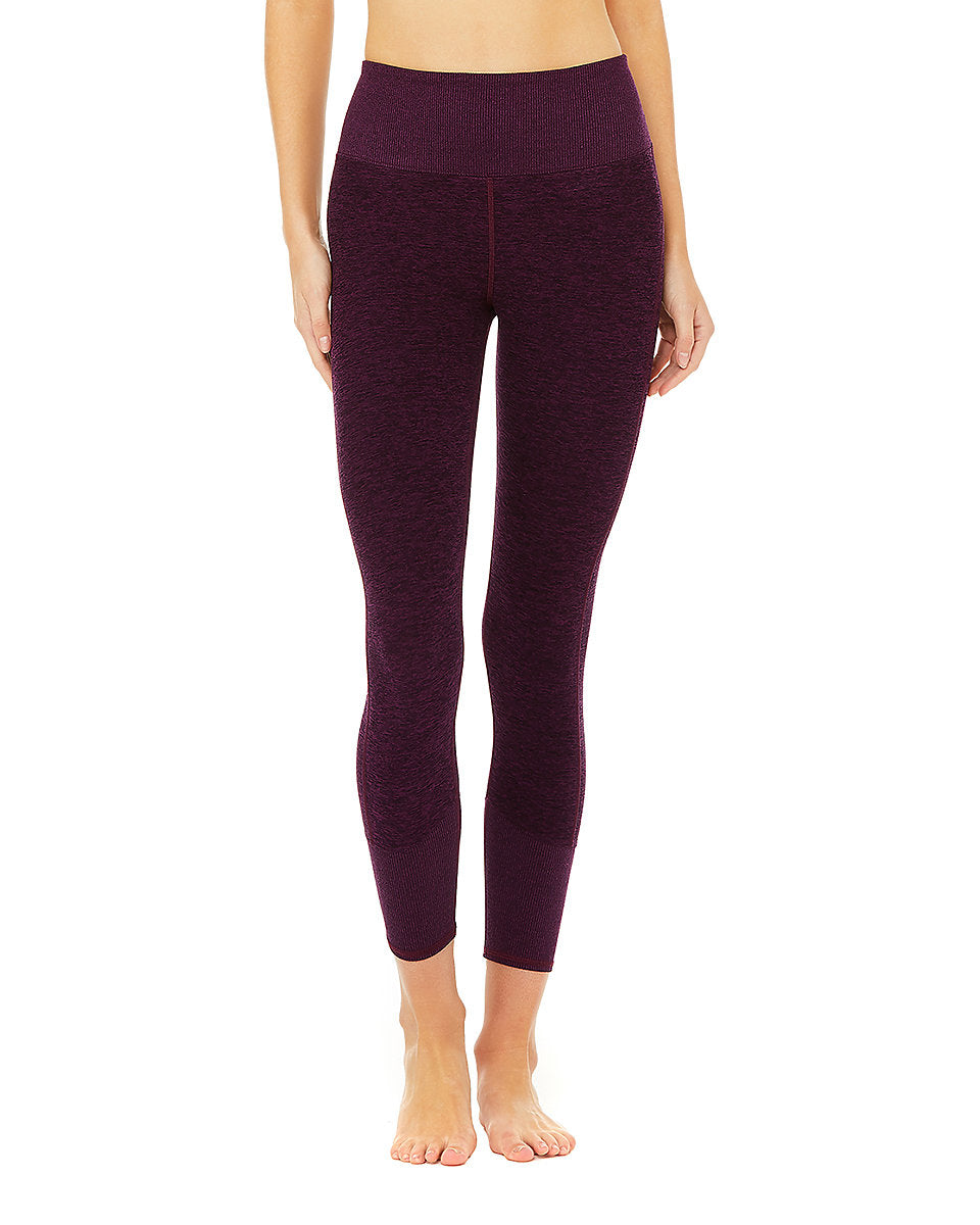 Alo Yoga XS Lounge Legging - Black Plum Heather