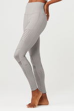 Load image into Gallery viewer, Alo Yoga XXS High-Waist Moto Legging - Alloy Glossy