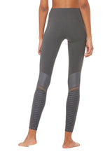 Load image into Gallery viewer, Alo Yoga XS High-Waist Moto Legging - Anthracite Glossy
