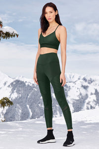 Alo Yoga SMALL High-Waist Moto Legging - Forest Glossy