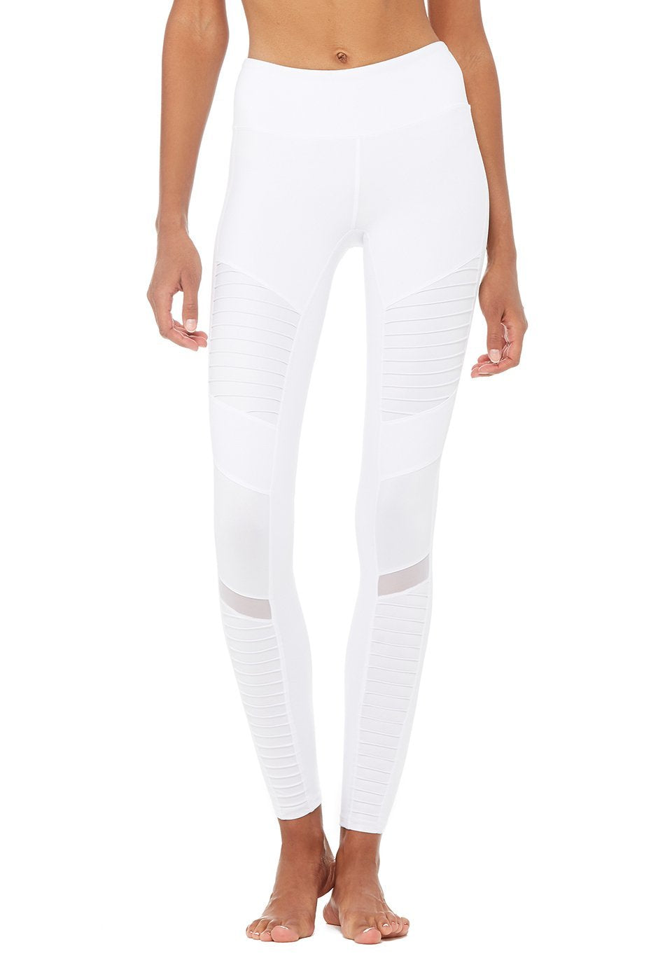 Alo Yoga XXS High-Waist Moto Legging - White Glossy