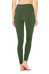 Alo Yoga High-Waist Ripped Warrior Legging - Hunter