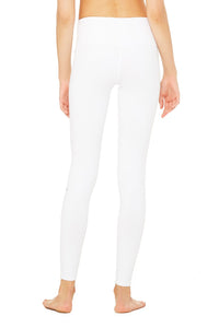 Alo Yoga SMALL High-Waist Ripped Warrior Legging - White