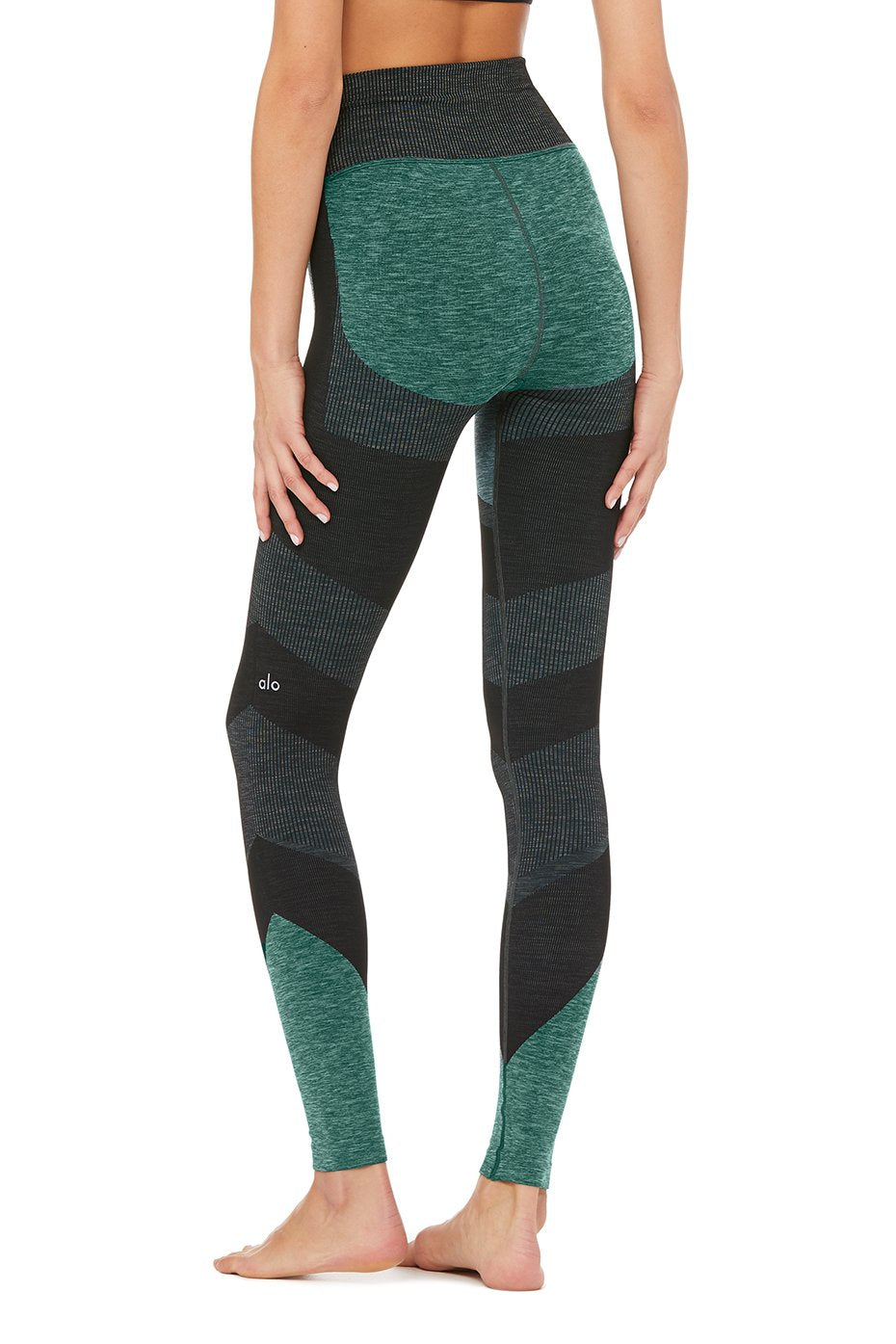 390a60db8178b8 ... Alo Yoga SMALL High-Waist Seamless Lift Legging - Tourmaline Heather