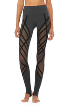 Load image into Gallery viewer, Alo Yoga High-Waist Wrapped Stirrup Legging - Anthracite