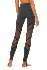 Alo Yoga High-Waist Wrapped Stirrup Legging - Anthracite