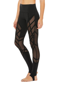 Alo Yoga High-Waist Wrapped Stirrup Legging - Black