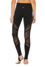 Load image into Gallery viewer, Alo Yoga High-Waist Wrapped Stirrup Legging - Black
