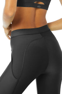 Alo Yoga XS High-Waist 4 Pocket Utility Legging - Black