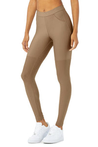 Alo Yoga SMALL High-Waist 4 Pocket Utility Legging - Gravel