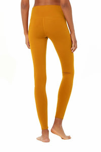 Alo Yoga XXS High-Waist Airbrush Legging - Bronzed