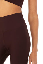 Load image into Gallery viewer, Alo Yoga SMALL High-Waist Airlift Capri - Oxblood