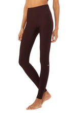 Load image into Gallery viewer, Alo Yoga XS High-Waist Airlift Legging - Oxblood