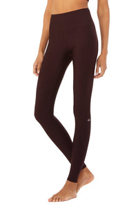Alo Yoga XS High-Waist Airlift Legging - Oxblood