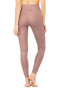 Alo Yoga XS High-Waist Airlift Legging - Smoky Quartz