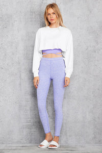 Alo Yoga SMALL High-Waist Alosoft Flow Legging - Periwinkle Heather