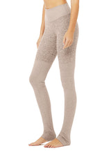 Load image into Gallery viewer, Alo Yoga XS High-Waist Alosoft Goddess Legging - Gravel Heather