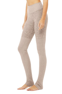 Alo Yoga XS High-Waist Alosoft Goddess Legging - Gravel Heather