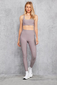 Alo Yoga XXS High-Waist Embody Legging - Lavender Smoke