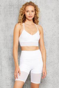 Alo Yoga XS High-Waist Lavish Short - White