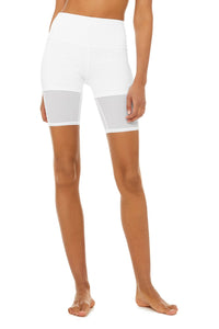 Alo Yoga SMALL High-Waist Lavish Short - White