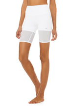 Load image into Gallery viewer, Alo Yoga SMALL High-Waist Lavish Short - White