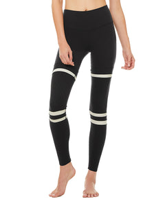 Alo Yoga XS High-Waist Legit Legging - Black/Bone