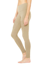Load image into Gallery viewer, Alo Yoga XXS High-Waist Moto Legging - Gravel Glossy